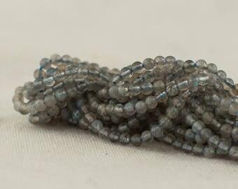"""High Quality Grade A Natural Labradorite Semi-Precious Gemstone Round Beads - 2mm - 15.5"""" long"""