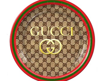 Gucci Inspired Custom Plates Cups.