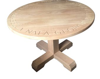 Carved Round Table 100