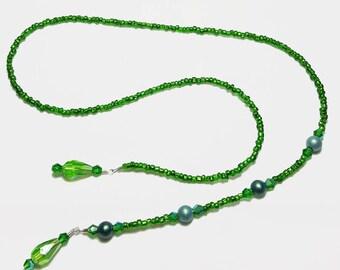 Emerald Green Crystal Beaded Book Mark