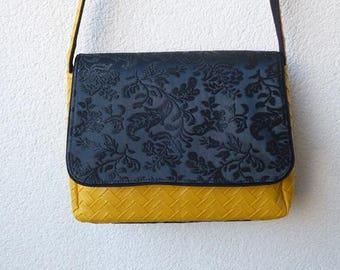 Mustard and black Messenger bag