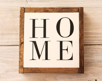 Home Sign, Handmade Wooden Sign