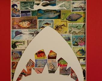 Postage Stamp Collage - JAWS!