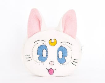 Sailor Moon Artemis Cat Sewn Felt Coin Purse/Pouch