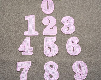 letter or Number Patch Iron on Sew on patch appliqueNO.10