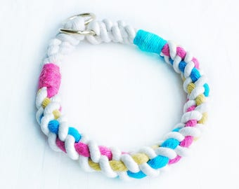Candy Cable Nautical Rope Dog Collar