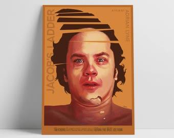 Jacob's Ladder - Alternative Movie Poster by Aleksander Walijewski // Print, Art, Film, Horror
