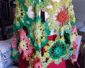 Crochet Wool shawl