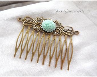 bronze hair comb