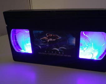 Retro Lightbox VHS Aliens Wall mountable or table lamp