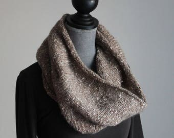 Wool scarf made with circular needles