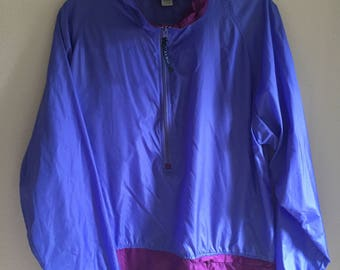Super cute vintage LL BEAN nylon pullover anorak/windbreaker/running jacket!