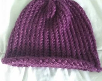Purple winter beanie