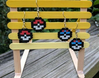 Set of Pokemon Perler Earrings