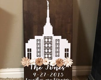 Idaho Falls Temple Sign, Idaho Falls Temple, Idaho Temples, LDS Temple Signs, LDS Decor, Custom Wood Signs, LDS Signs, Families are Forever