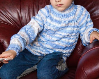 Boy sweater Hand knitted sweater Kids jumper Sweater for children Boys Pullover Toddler sweater Children knitwear Gray sweater Cozy sweater