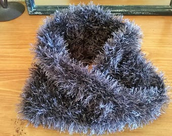 FUR HAND KNITTED WOOL SNOOD