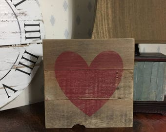Rustic Wooden Heart pallet signs