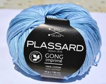 cotton printed gong plassard blue gradient 111