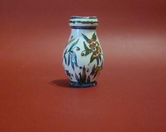 Vintage Turkish Kutahya. Decorative Kutahia Vase. Kutahia Traditional Pottery