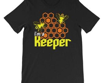 I'm A Keeper Beekeeper Unisex short sleeve t-shirt