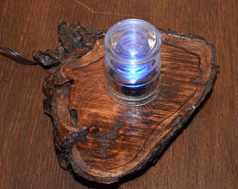 Night light / Accent light with vintage electrical insulator