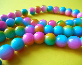multicolor 8mm 10 beads