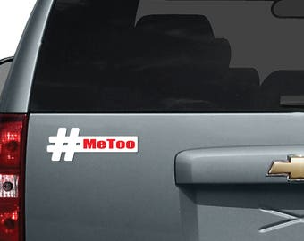 Me Too Car Magnet| #MeToo | Hashtag MeToo| Strong Women | Stop the Silence | Inspire Others | Unashamed|Me Too Movement | Social Justice