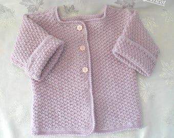 Girl purple Wool Cardigan jacket size 12-18 months