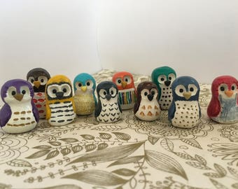 wise owl clay animal totem