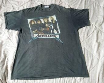 Metallica vintage T shirt Non tour concert 1987 Thrased Thin Garage Days