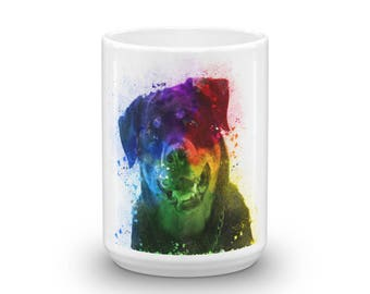 The Colors of Love are a Rottweiler Mug