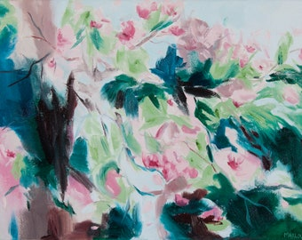 """1 oil painting """"Cherry Blossoms"""""""