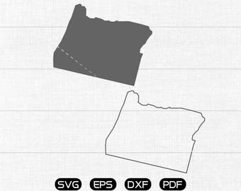 Oregon SVG, State SVG Vector, OR Clipart, cricut, silhouette cut files commercial use
