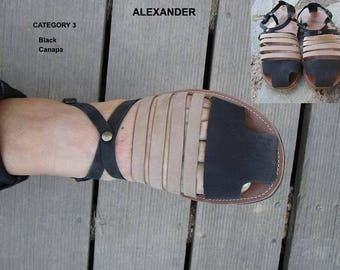 Men's Sandals,Gladiator Sandals, Handmade Leather Sandals, Closed Toe Sandals for men,Anciens Greek Sandals,Leather Sandals, ALEXANDER