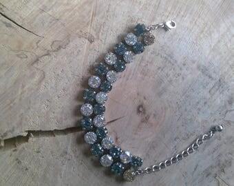 Indian Sapphire & Moonlight Double Row Bracelet