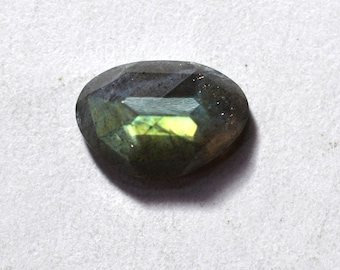 Labradorite Natural Labradorite Rose Cut Polki Both Side Faceted 3.50 cts 9x13 mm For Designer Jewelry 3939