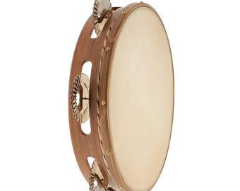 Walnut tambourine