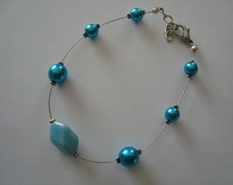 Turquoise colored beads bracelet