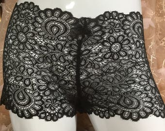 The Sophia. Super soft black lace panties lingerie gifts for her sheer lace comfy girly romantic