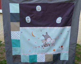 Plaid baby/toddler 100 x 100 cm / / play mat / / birthday gift