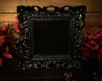 Victorian Inspired Black Scrying Mirror - Divination & Sight into the Beyond