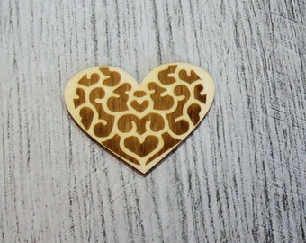 Heart 1149 wood for your creations