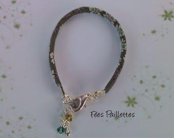 Frou Frou khaki silver bracelet