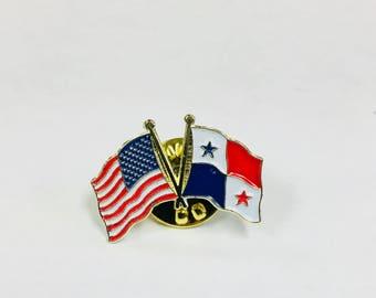 Panama- America Duo Pin