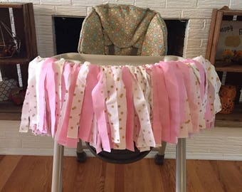Girls High Chair Ribbon Banner