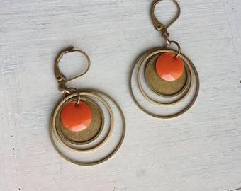 """""""Sunset"""" earrings"""