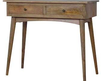 Rustic Oak Thin Dressing / Console Table - 78x90x40cm