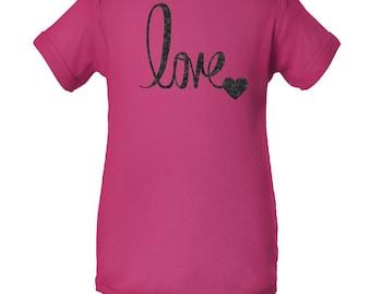 LOVE Onesie, Valentines Day Shirt, Custom Valentines Day Gift, Gift for Her, Youth Valentines Day Shirt, Love, Heart, Valentines