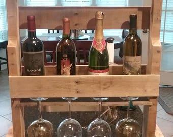 Standing wine and glass rack